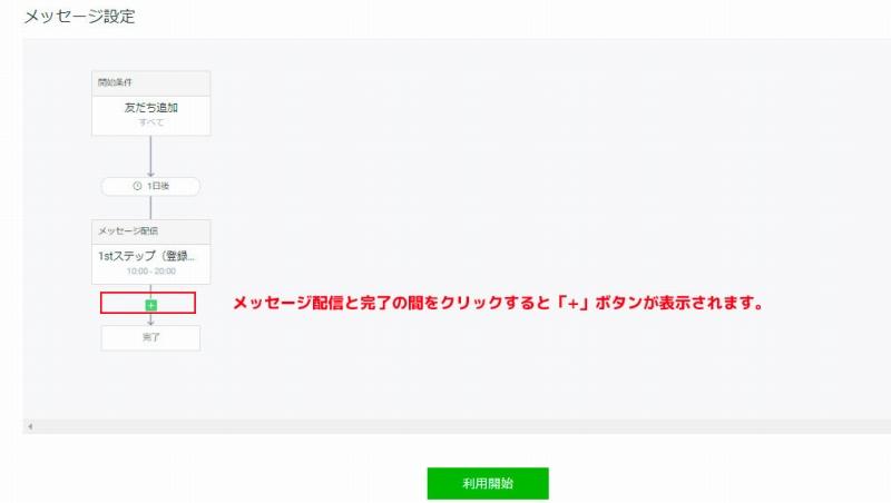 LINEステップ配信使い方 メッセージ配信追加